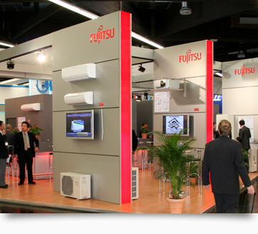 messestand fujitsu front