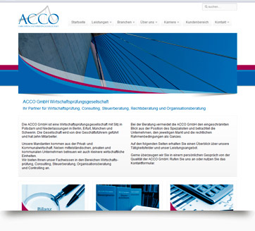webdesign acco front